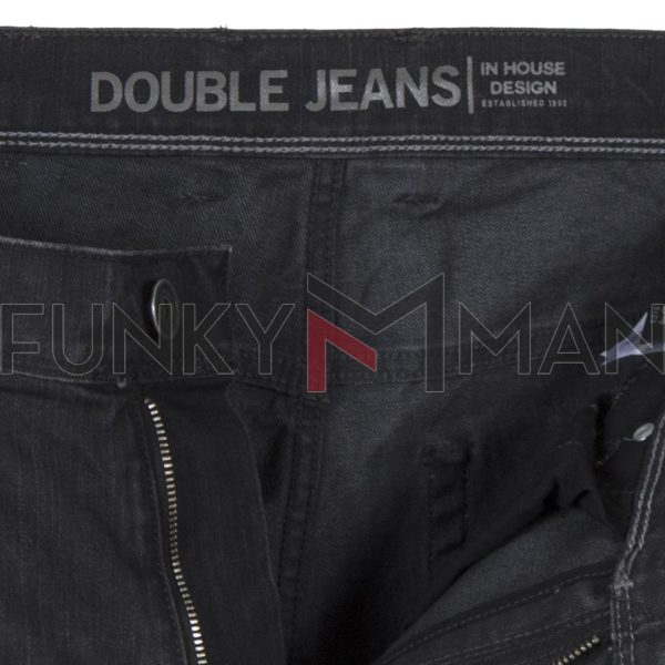 Τζιν Παντελόνι Slim Fit DOUBLE MJP-31 Μαύρο