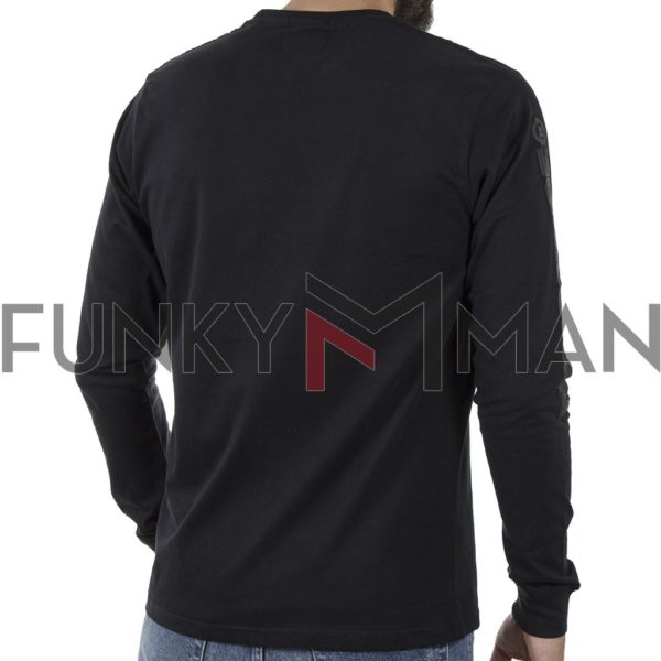 Μακό Μπλούζα Cotton Jersey DOUBLE TS-108 Μαύρο