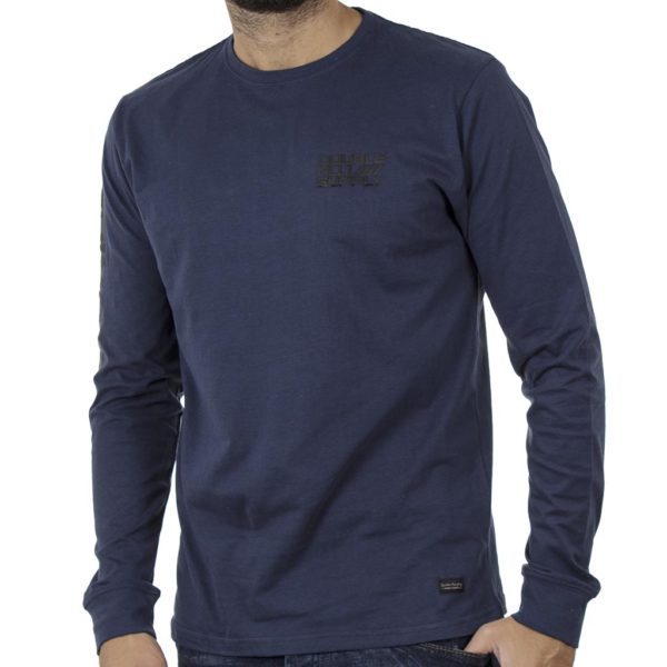 Μακό Μπλούζα Cotton Jersey DOUBLE TS-108 Navy