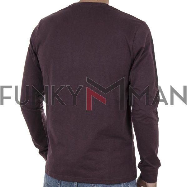 Μακό Μπλούζα Cotton Jersey DOUBLE TS-108 Wine Red