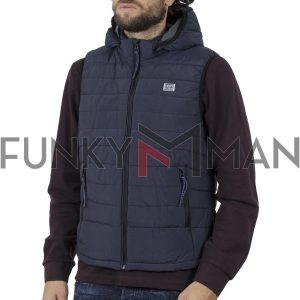 Αμάνικο Μπουφάν-Γιλέκο Vest Jacket FUNKY BUDDHA FBM002-01219 Navy