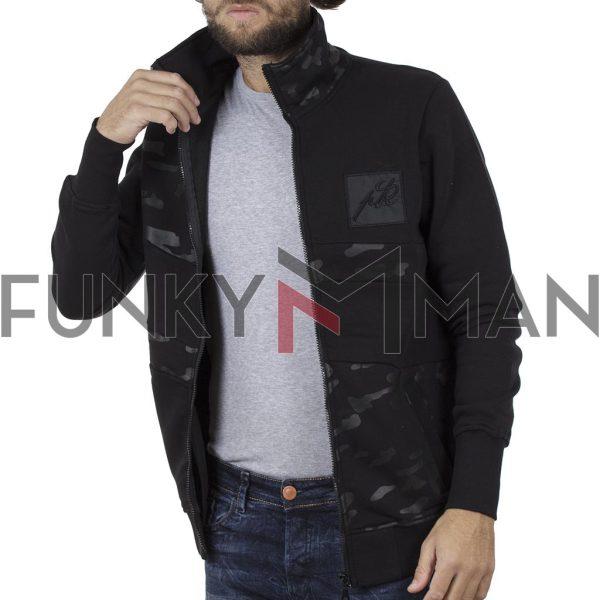 Ζακέτα Fashion PONTEROSSO 19-2012 ARMY Μαύρο