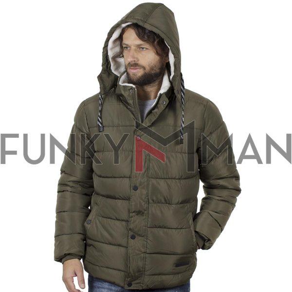 Φουσκωτό Μπουφάν Puffer Jacket BLEND 20708652 Χακί