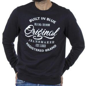 Φούτερ Βαμβακερή Μπλούζα BLEND 20708673 Navy