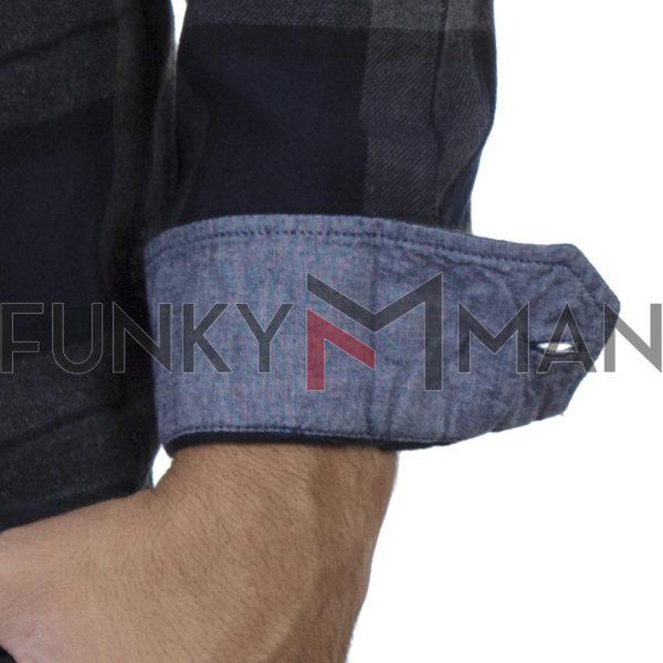 Καρό Μακρυμάνικο Πουκάμισο Slim Fit BLEND 20708909 Μπλε