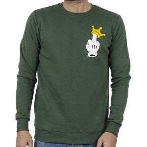Φούτερ Μπλούζα Cotton4all 20-834 Πράσινο
