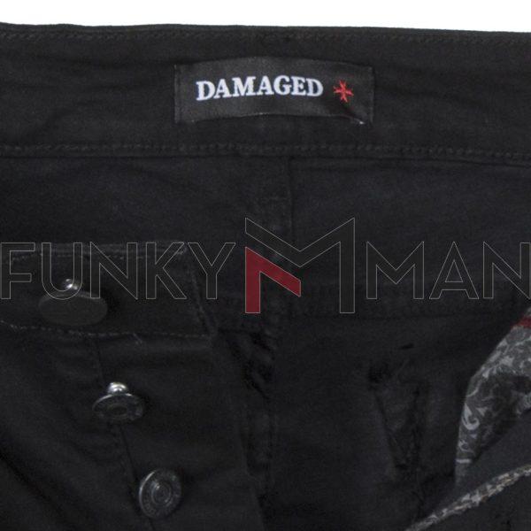 Τζιν Παντελόνι Super Skinny DAMAGED R27 Μαύρο