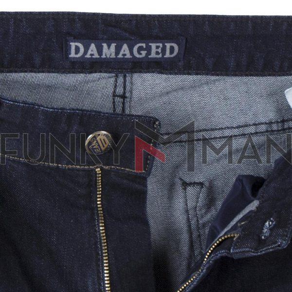 Τζιν Παντελόνι Regular DAMAGED R30C σκούρο Μπλε