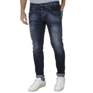 Τζιν Παντελόνι Slim DAMAGED R34 Μπλε