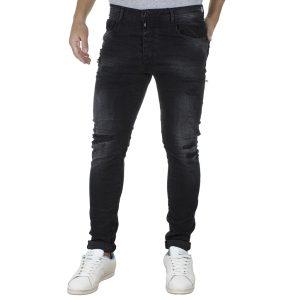 Τζιν Παντελόνι Slim DAMAGED R34G Μαύρο