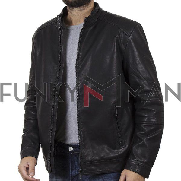 Motor Style Jacket DOUBLE MLJK-04 Μαύρο