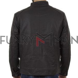 Motor Style Jacket DOUBLE MLJK-04 σκούρο Καφέ