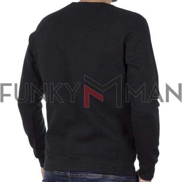 Φούτερ Μπλούζα Sweatshirt DOUBLE MTOP-47 Μαύρο