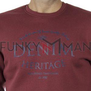 Φούτερ Μπλούζα Sweatshirt DOUBLE MTOP-47 Brick
