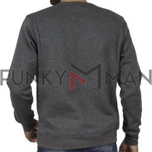 Φούτερ Μπλούζα Sweatshirt DOUBLE MTOP-47 Γκρι