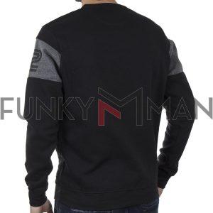 Φούτερ Μπλούζα Sweatshirt DOUBLE MTOP-49 Μαύρο