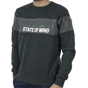 Φούτερ Μπλούζα Sweatshirt DOUBLE MTOP-49 Pesto