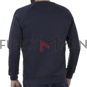 Φούτερ Μπλούζα Sweatshirt DOUBLE MTOP-50 Indigo