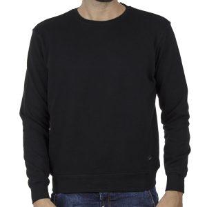 Φούτερ-Fleece Μπλούζα Sweatshirt DOUBLE MTOP-51 Μαύρο
