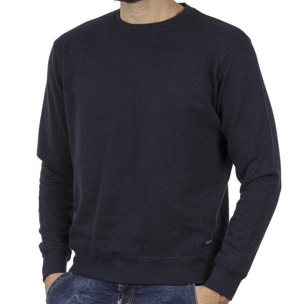 Φούτερ-Fleece Μπλούζα Sweatshirt DOUBLE MTOP-51 Indigo