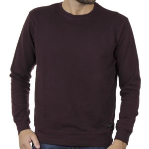 Φούτερ-Fleece Μπλούζα Sweatshirt DOUBLE MTOP-51 Wine