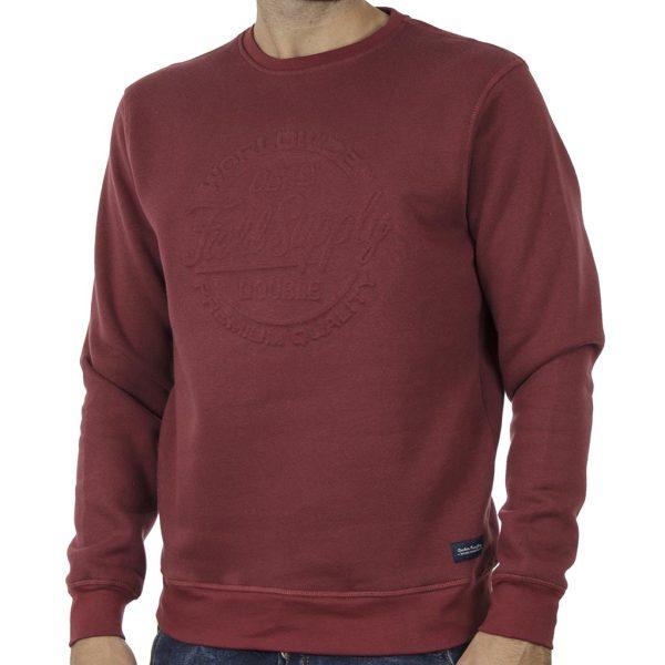 Φούτερ Μπλούζα Sweatshirt DOUBLE MTOP-53 Brick