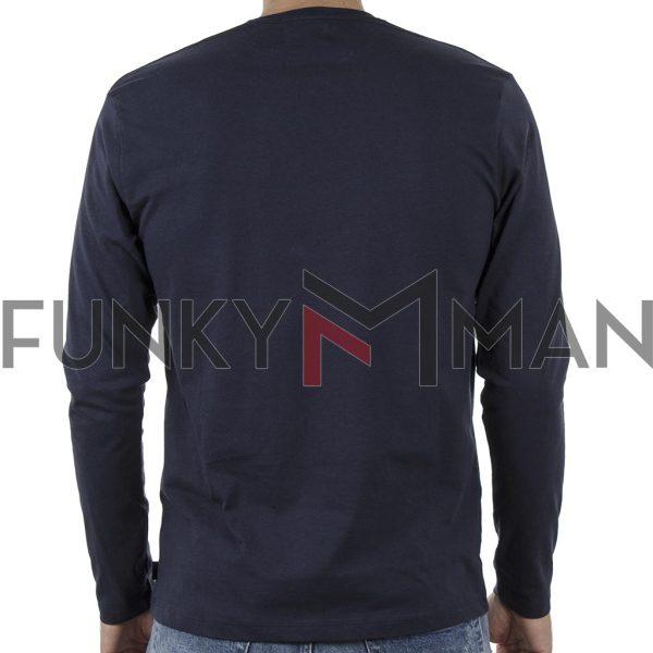 Μακό Μπλούζα Cotton Jersey Long Sleeve DOUBLE TS-105 Indigo