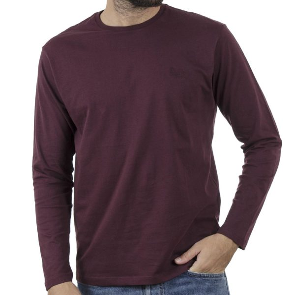 Μακό Μπλούζα Cotton Jersey Long Sleeve DOUBLE TS-105 Wine Red