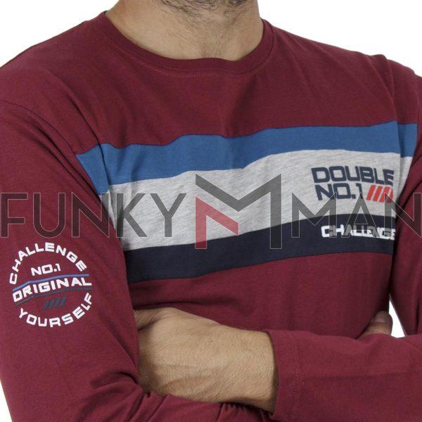 Μακό Μπλούζα Jersey Long Sleeve DOUBLE TS-110 Κόκκινο