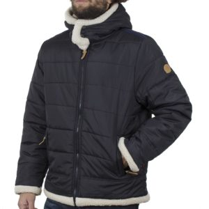 Φουσκωτό Μπουφάν Puffer Jacket με Κουκούλα DUKE KS30337 Navy
