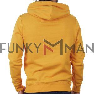 Φούτερ με Κουκούλα Hoodie FUNKY BUDDHA FBM018-06219 σκούρο Κίτρινο