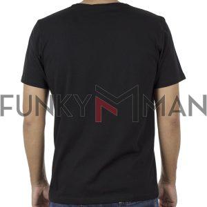 Κοντομάνικη Μπλούζα T-Shirt Hoodloom Free Yourself HWB-1-20 Μαύρο
