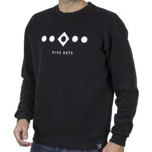 Φούτερ Hoodloom 5 Dots Crewneck HWB-3-10 Μαύρο
