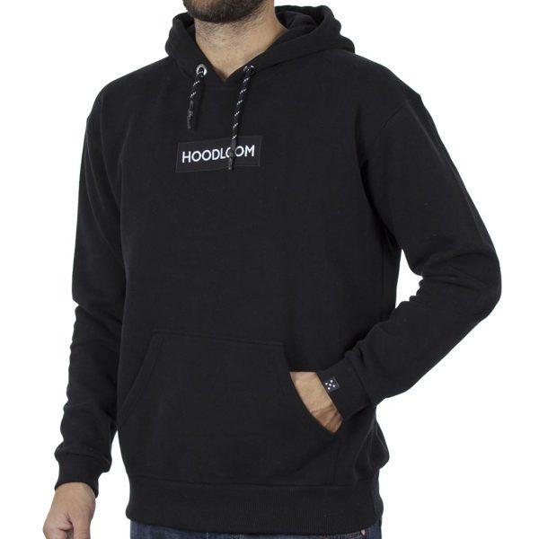 Φούτερ με Κουκούλα Hoodloom Vertical 5 Dots Hoodie HWB-3-15 Μαύρο