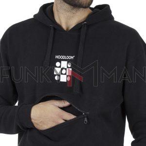 Φούτερ με Κουκούλα Hoodloom Vertical 5 Dots Hoodie HWB-3-8 Μαύρο
