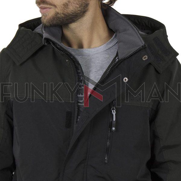 Μπουφάν Jacket με Κουκούλα ICE TECH G705 Μαύρο
