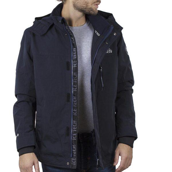 Μπουφάν Jacket με Κουκούλα ICE TECH G705 Navy