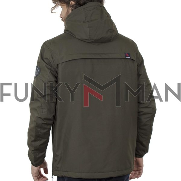 Cagoule Jacket με Κουκούλα ICE TECH G715 Πράσινο