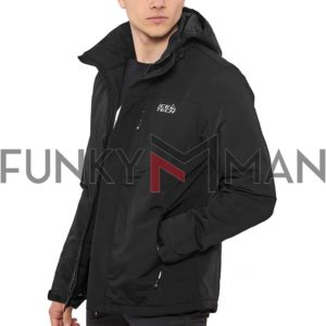 Jacket με Κουκούλα ICE TECH G727 Μαύρο