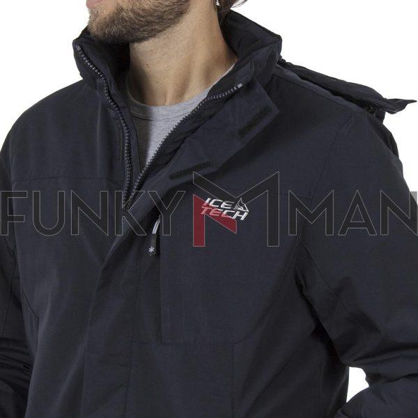 Jacket με Κουκούλα ICE TECH G727 Navy