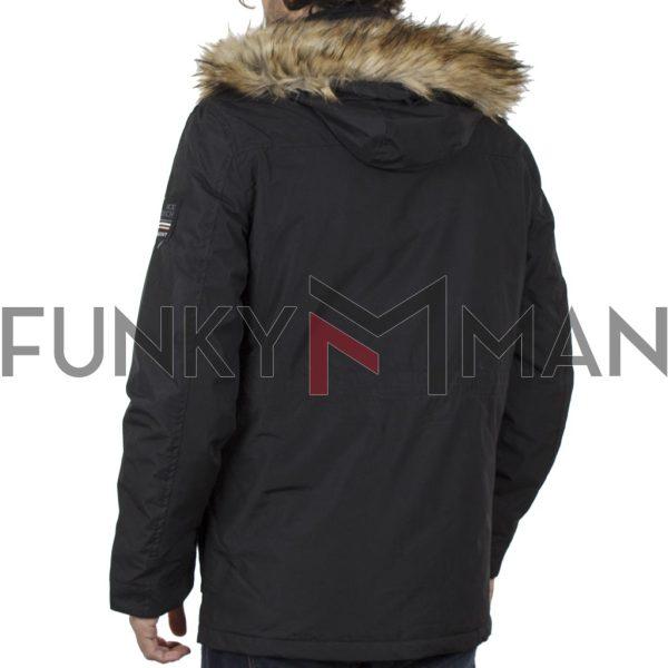 Parka Jacket με Κουκούλα ICE TECH G729 Μαύρο