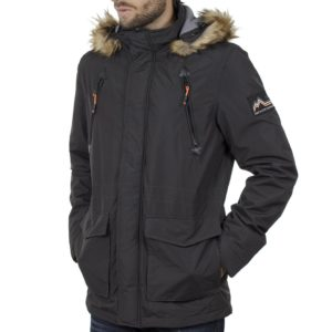 Parka Jacket με Κουκούλα ICE TECH G729 Γκρι