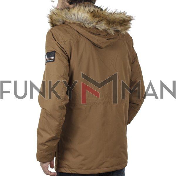 Parka Jacket με Κουκούλα ICE TECH G729 Mustard