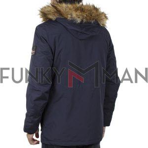 Parka Jacket με Κουκούλα ICE TECH G729 Navy