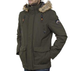 Parka Jacket με Κουκούλα ICE TECH G729 Olive