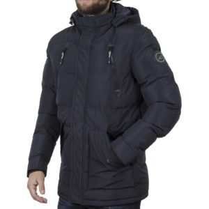 Μακρύ Puffer Jacket με Κουκούλα ICE TECH G730 Navy