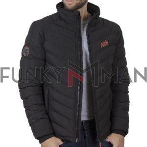 Μακρύ Puffer Jacket με Κουκούλα ICE TECH G737 Μαύρο