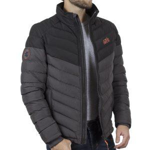 Μακρύ Puffer Jacket με Κουκούλα ICE TECH G737 Γκρι