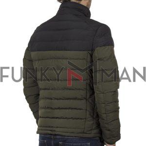 Μακρύ Puffer Jacket με Κουκούλα ICE TECH G737 Olive