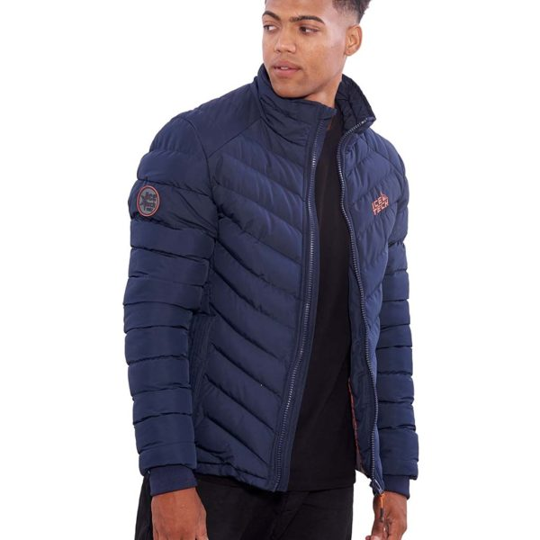 Μακρύ Puffer Jacket με Κουκούλα ICE TECH G737 Μπλε
